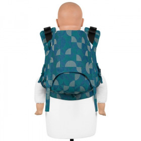 Toddler Size: Fidella Fusion 2.0 Full Wrap Conversion, Kaleidoscope -ocean teal