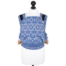 Toddler Size: Fidella Fusion Full Wrap Conversion, Night Owl -smooth blue (Transport Gratuit)