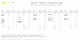 Wrap tesut Tara Bleu/Natur; Poarta-ma!, marimea 6 (4,7m)
