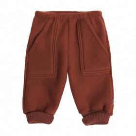 Pantaloni Joha fleece lână merinos - Red