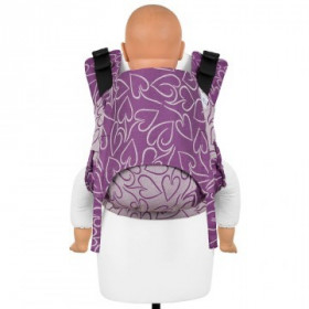Baby Size: Fidella Fusion Full Wrap Conversion, Amors Love Arrows -Grape(Transport Gratuit)