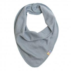 Bavetica/esarfa Joha din lână merinos si mătase - Soft Blue
