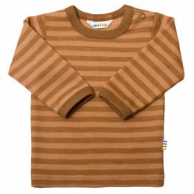 Bluză din lână merinos Joha - Rusty Stripe