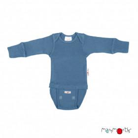 Body/Bluza (2 in 1) ManyMonths lână merinos - Cosmos Blue