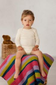 Body Cosilana din lana merinos și matase - natur