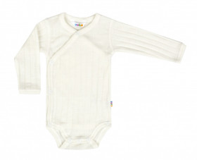 Body kimono lână merinos si mătase - Basic White