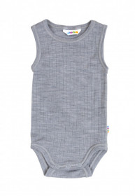 Body/maiou Joha lână merinos - Basic Grey