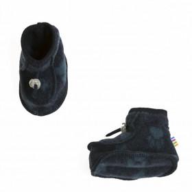 Botosei dublati din lână merinos fleece Joha - Footprint Navy