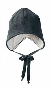 Caciula Disana lână organica boiled wool (lana fiarta) - Anthracite