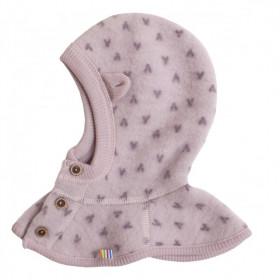 Cagula din lână merinos tip fleece- Joha Big V Pink, marime 52 cm (3-5 ani)