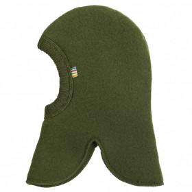 Cagulă dublată Joha lână merinos fleece - Bottle Green