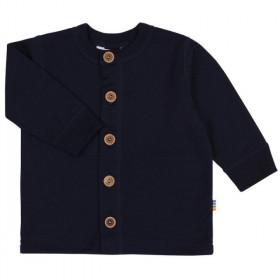 Cardigan Joha lână merinos - Heavy Single Wool Navy