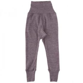 Cei mai comozi pantaloni Cosilana din lână, mătase și bumbac - Mov melange