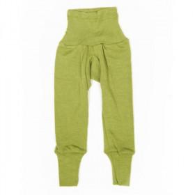 Cei mai comozi pantaloni Cosilana din lână merinos si mătase - Verde