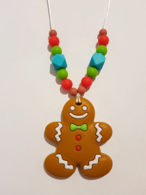 Colier de babywearing, alaptare si dentitie din silicon - Gingerbread