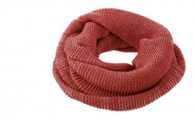 Fular circular Disana lână merinos - Bordeaux/Rose