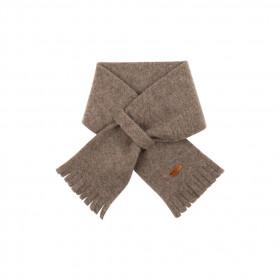 Fular din lână merinos fleece Pure Pure - Walnut