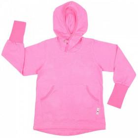 Hoodie ManyMonths Kangaroo cânepă si bumbac organic - Pink Peony