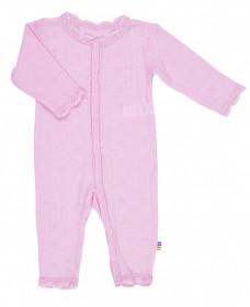 Jumpsuit Joha Eyelet lână merinos si mătase - Basic Pink