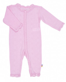 Jumpsuit Joha lână merinos si mătase - Basic Pink