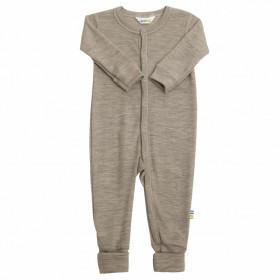 Jumpsuit/Overall din lână merinos și mătase cu/fără șosete Joha - Sesame