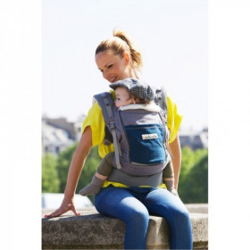 Lichidare de stoc: Marsupiu SSC Physio Carrier - Elephant Pocket Peacock Blue - Leather Like