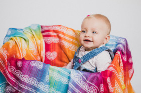 LITTLE SWADDLE - RAINBOW LACE, Lennylamb