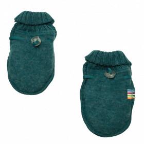 Manusi din lana merinos fleece Joha - Basic Peacock Melange