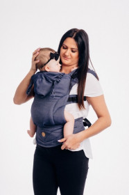 MARSUPIU ERGONOMIC, portbebe LENNYGO BABY SIZE, JEANS FULL WRAP CONVERSION