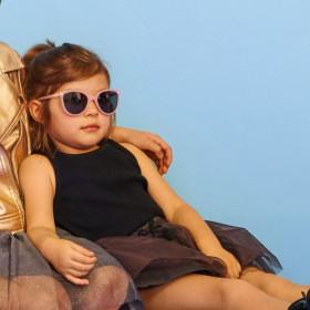 Ochelari de soare Ki ET LA ,4-6 ani - Butterfly Pink Glitter