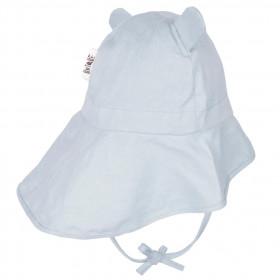Pălărie ajustabilă ManyMonths Teddy Bear cânepă și bumbac - Silver Blue