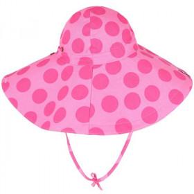 Palarie ManyMonths Floppy Light cânepă si bumbac organic - Big Dots Pink