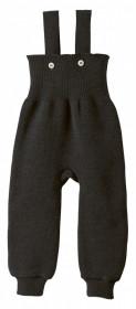 Pantaloni cu bretele lână merinos Disana - Anthracite