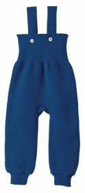 Pantaloni cu bretele lână merinos Disana - Navy