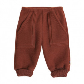 Pantaloni Joha fleece lână merinos - Red