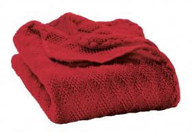 Patura bebelusi din lână merinos tricotata Disana - Bordeaux