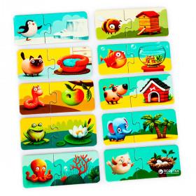 Puzzle 20 piese, Casuta Animalelor, Cubika