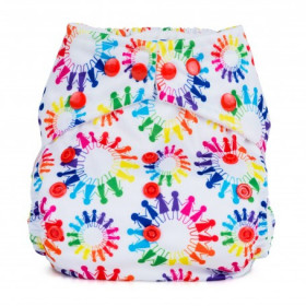 Scutec textil refolosibil cu buzunar Baba+Boo Tribe