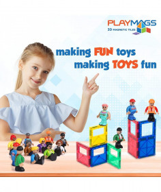 Set Playmags - 15 figurine magnetice