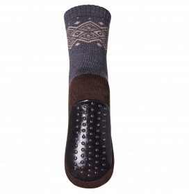 Sosete-papuci groase mp Denmark lână merinos - Bobbie Dark Grey