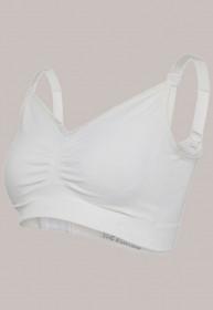 Sutien pentru maternitate & alăptare - Carriwell Seamless Organic Cotton, Alb