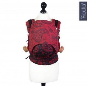 Toddler Size: Fidella Fusion Full Wrap Conversion, Persian Paisley -Hot Lava (Transport Gratuit)