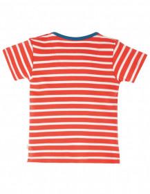 Tricou din bumbac organic -Red StripeBoat, Frugi