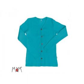 Cardigan femei MaM lână merinos - Royal Turquoise