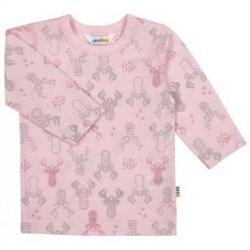Bluza Joha lână merinos extra fina - Elk Ballet Pink, marimea 80 (9-12 luni)