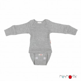 Body/Bluza (2 in 1) ManyMonths lână merinos - Platinum Grey