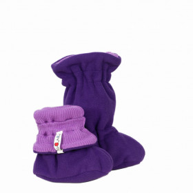 Botosei ajustabili ManyMonths Winter Booties Mam*tec pt babywearing - Lavender Crystal/Plum