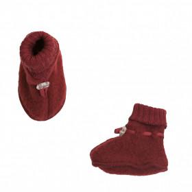 Botosei din lână merinos fleece Joha - Crimson Red