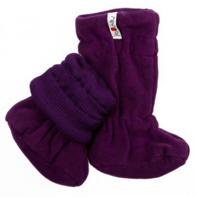 Botosei ManyMonths Winter Booties pt babywearing - Majestic Plum/Frosted Berry