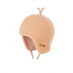 Căciulă din lână merinos fleece Pure Pure - Dusty Apricot